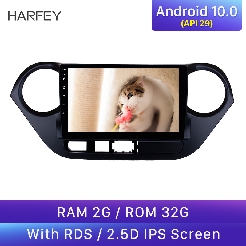 Harfey Clearance <font><b>GPS</b></font> Car Radio Multimedia Player for <font><b>HYUNDAI</b></font> <font><b>I10</b></font> <font><b>Grand</b></font> <font><b>i10</b></font> 2013-2016 RHD Android 10.0 2Din Wifi Head Unit Stereo image
