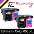 4PK 650XL совместимый картридж Замена для HP 650 XL для HP Deskjet 1015 1515 2515 2545 2645 3515 3545 4515 4645 принтер