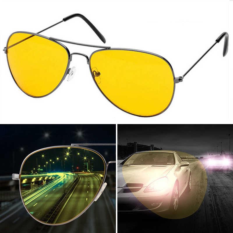 Evrfelan جديد للرؤية الليلية نظارات الرجال القيادة عدسات صفراء اللون النساء النظارات الشمسية الكلاسيكية سائق نظارات UV400