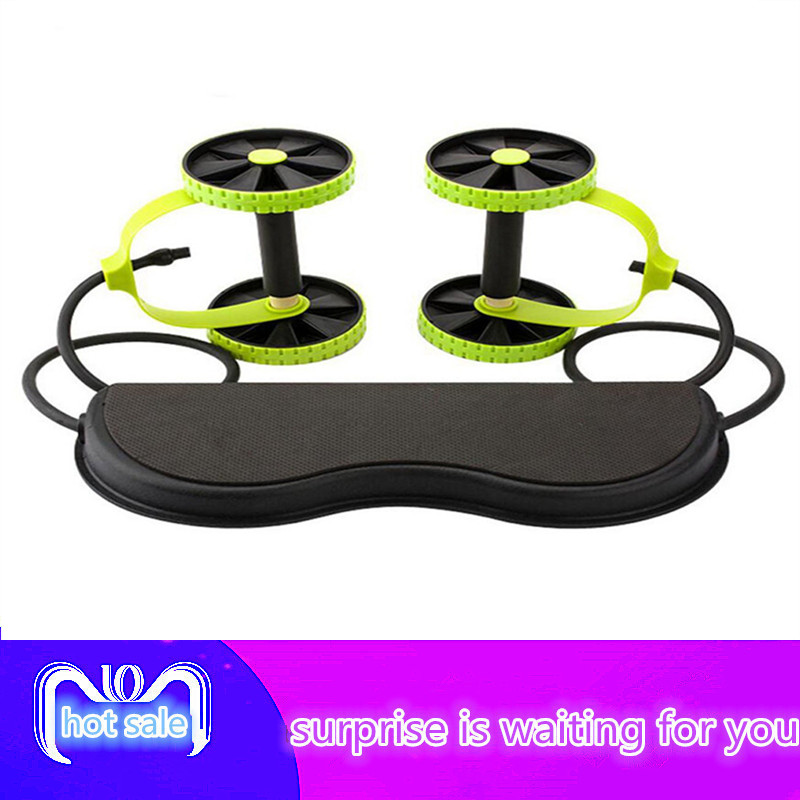 Abdominal Wheel Abdominal Muscle Trainer Fitness Abdominal Roller Trainer ABS Workout Kit Crossfit Abdominal Exerciser