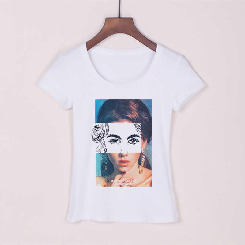 Красивая модная футболка для девочек Женская летняя футболка Harajuku женская футболка с коротким рукавом плюс размер Сексуальная футболка Эстетическая Tumblr Топы И Футболки