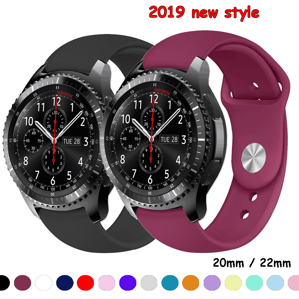 Gear S3 Strap For Samsung Galaxy Watch 46mm 42mm/Active S2/Sport Soft Silicone Bracelet Amazfit Bip Strap 20mm 22mm Watch Band