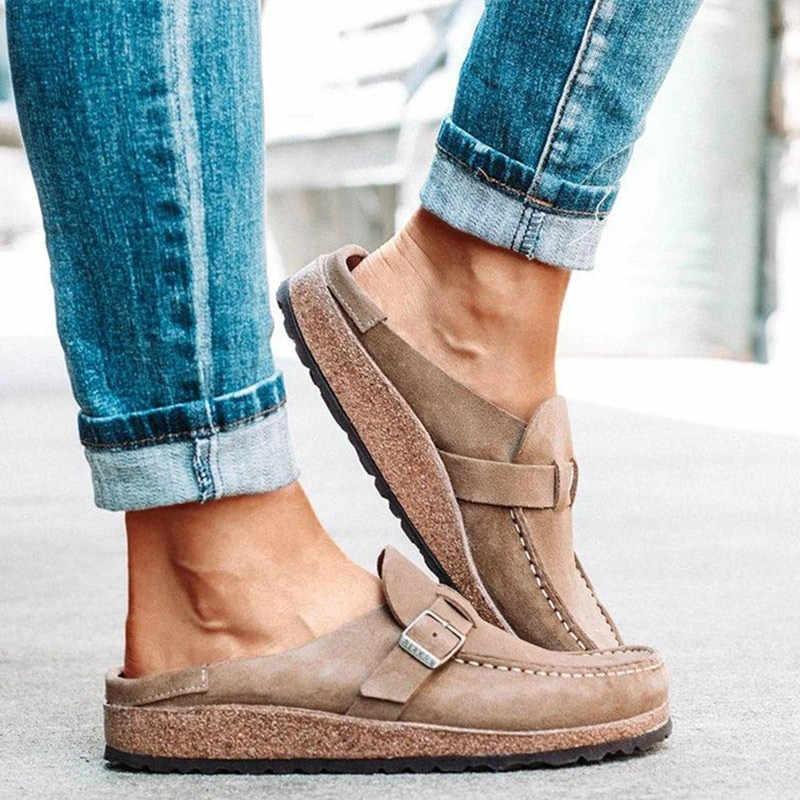 MCCKLE daireler kadın loafer'lar Retro ayakkabı üzerinde kayma bayanlar konfor platformu kadın yeni Casual kadın yaz ayakkabı 2020 artı boyutu