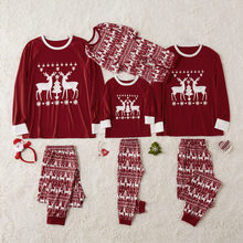 Christmas Newborn Infant Baby Boy Girls Father Mother Kids Baby Romper Jumpsuit Matching Family Outfits Pajamas Sleepwear(China)