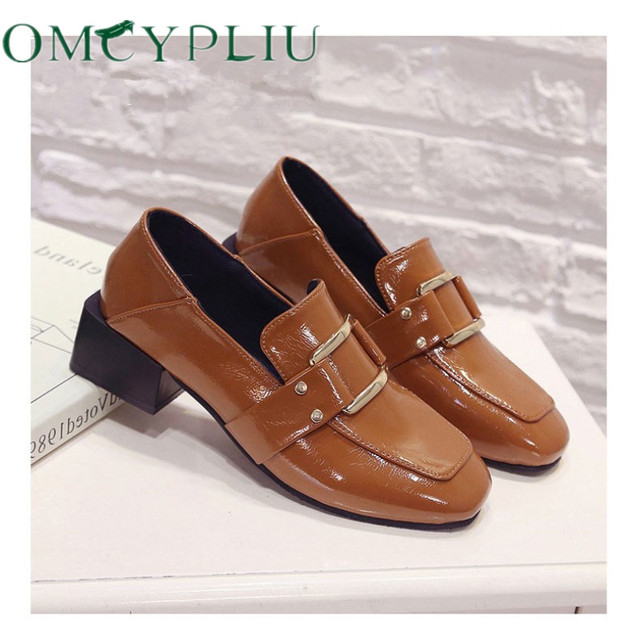 Designer Shoes Women Luxury 2020 Summer Woman Fashion Black Work Patent Leather High Quality Plus size Ladies Shoe Zapatos mujer