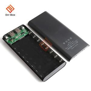 Image 4 - 8X18650ไฟฉายแบตเตอรี่กล่องชาร์จ Charger Box Power Bank DIY Shell Dual USB 18650แบตเตอรี่ Shell Storage จัดระเบียบ