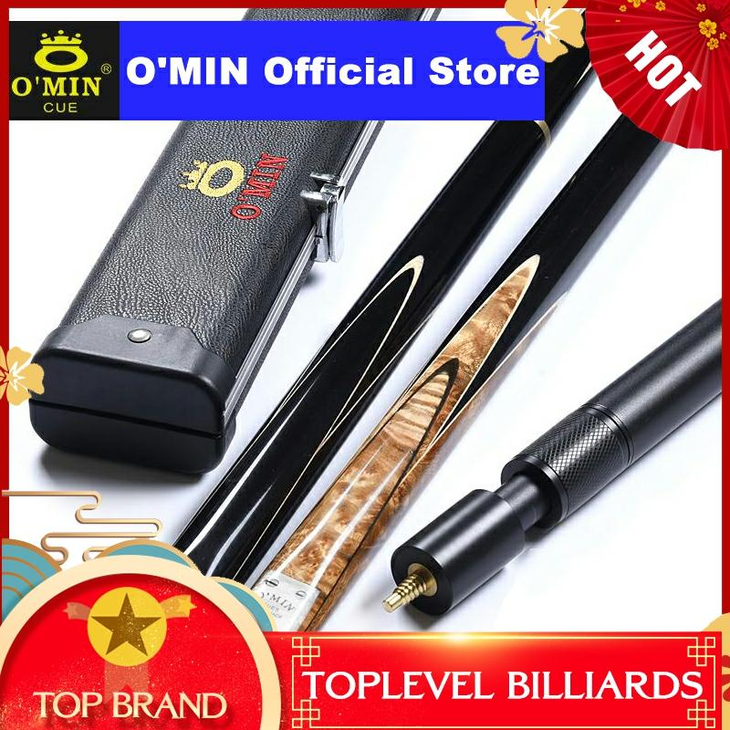 2019 O'MIN GUNMAN Snooker Cue 3/4 Piece Snooker Cue Kit With O'MIN Case With Telescopic Extension 9.5mm 10mm Tip Snooker Stick