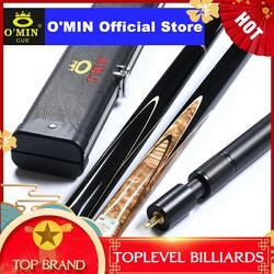 2019 O'MIN GUNMAN Snooker Queue 3/4 Stück Snooker Queue Kit mit O'MIN Fall mit Teleskop Verlängerung 9,5mm 10mm spitze Snooker Stick