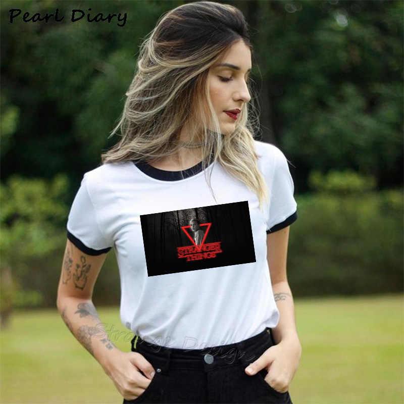 Новые странные вещи Харадзюку Ullzang футболка женская с перевернутым пухом Eleven забавная футболка 90s футболка с изображением Модные женские футболки