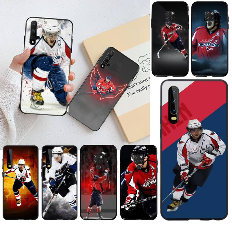 HPCHCJHM Alexander Ovechkin Nhl Star Hockey Phone Case for Huawei P30 P20 lite Mate 20 Pro lite P Smart 2019 prime(China)