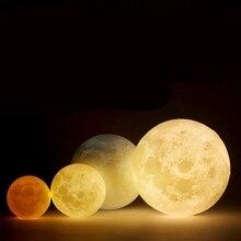Moonlight Lamp 3D Print LED Moon Lamp USB LED Night Light Moonlight Touch Sensor Kids Gift 8/10/12/14/15/18/20 CM Home Decor beiaidi creative 3d print moon lamps usb rechargeable led night light table moonlight with touch sensor switch christmas gift