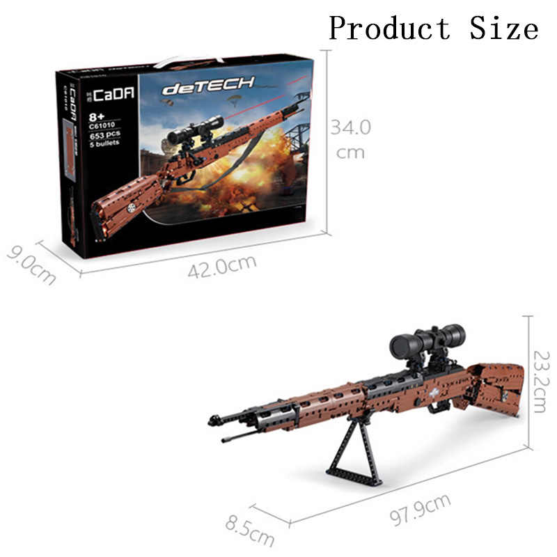 653 PCS SWAT Military Ww2 Waffe 98K Sniper Modelle Bausteine für Technik Pistole PISTOLE Blöcke Spielzeug