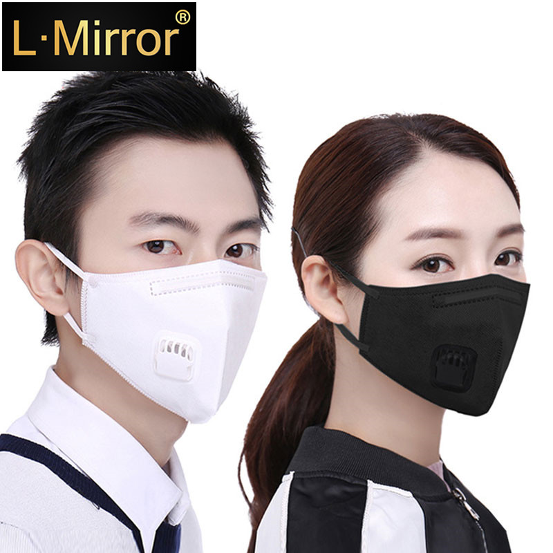 L.Mirror 1PCS Cotton Dustproof Allergy Mouth Face Mask Activated Carbon Filter Women Men Muffle Face Mouth Masks Reusable