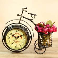 Retro Vintage Silent Iron Bike Bicycle Clock Office Living Room Ornament Decor Study room decor Crafts Decor gift for friends