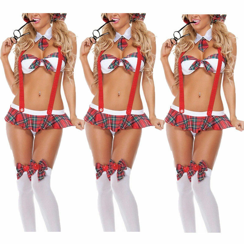 Best Selling High Quality Sexy School Girl Student Strap Uniforms Clothing Sex Lingerie Halloween Role Playing Costumes
