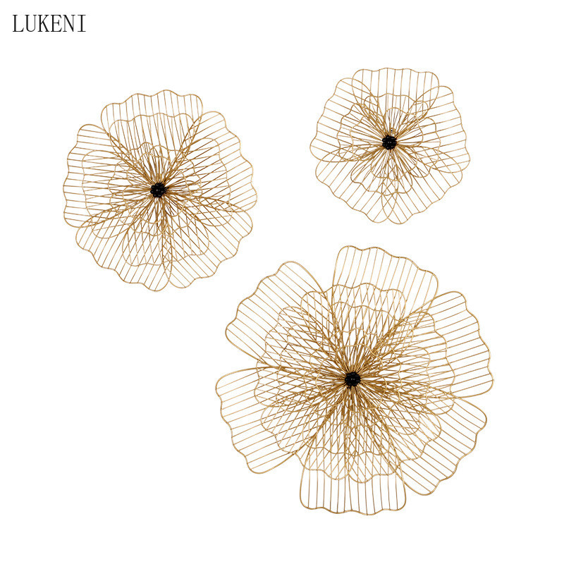New Chinese Light Luxury Wrought Iron Wall Decorations Living Room Bedroom Wall Decoration Personality Creative Wall Hanging