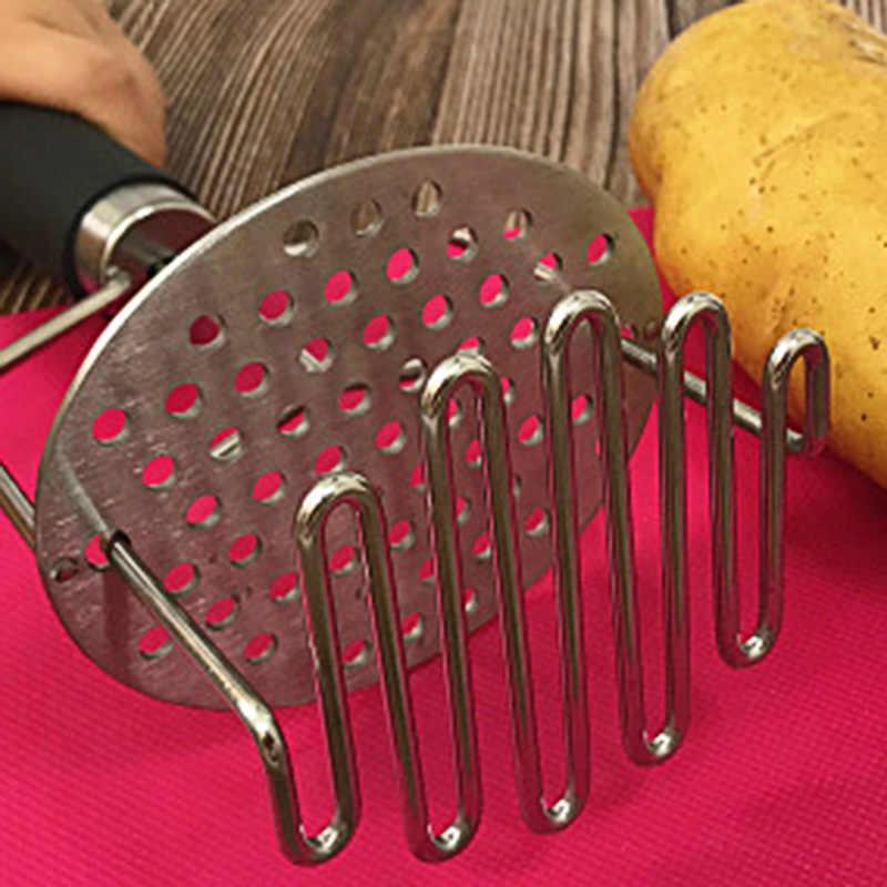 מועך תפוחי אדמה נירוסטה עם ידית נשלף אביב DIY פירה קל לשימוש כלי בחור-מכירה