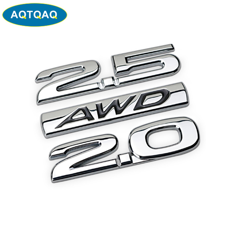 1Pcs 3D Metal AWD Car Side Fender Rear Trunk Emblem Badge Sticker Decals Suit For Universal Car,car Decoration Stickers