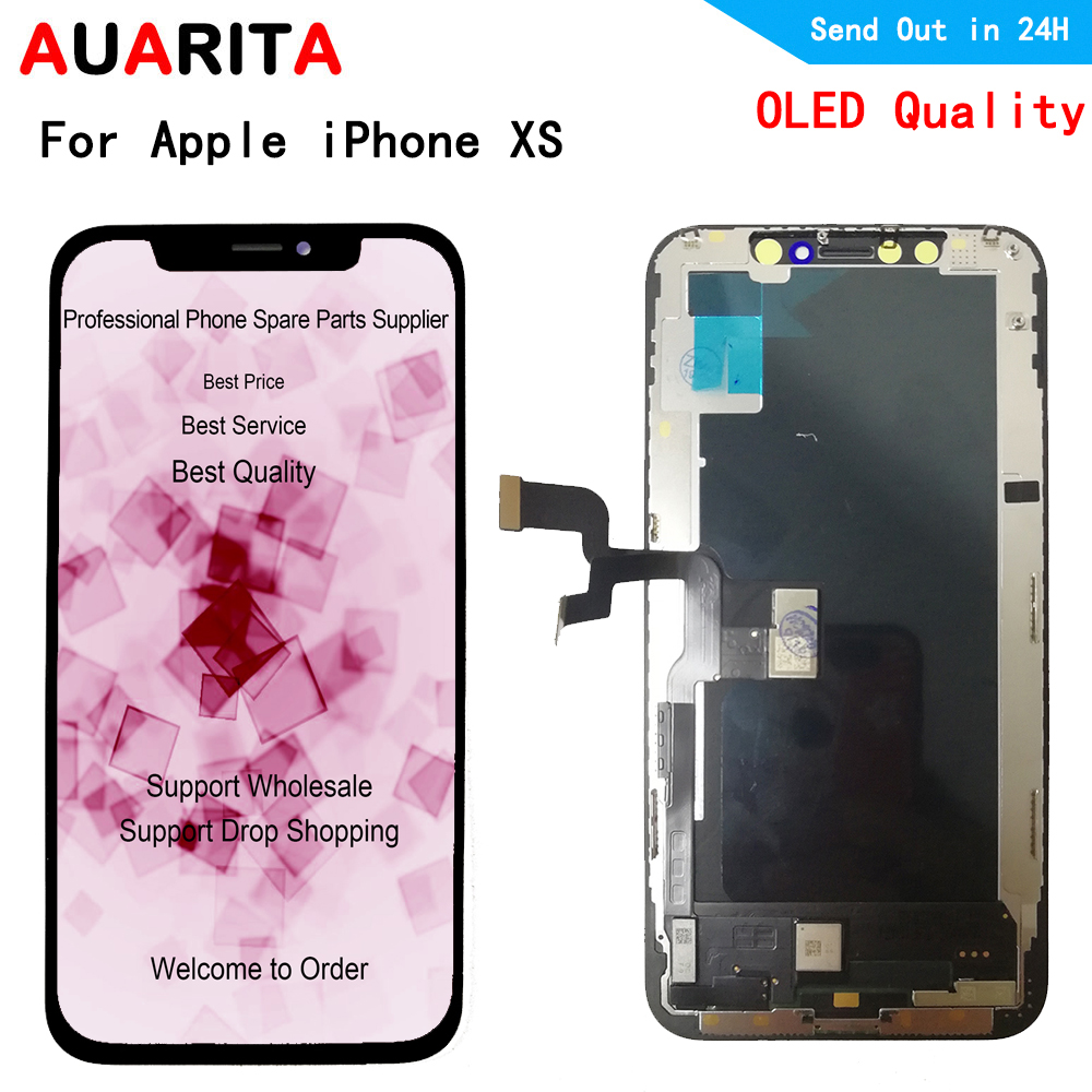 Oled LCD For iphone XS A1920 A2097 A2100 A2098 LCD Display+Touch panel Screen Digitizer Assembly for apple iphone XS lcds