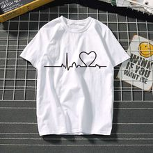 Women's t-shirt Harajuku love t shirt women feminina ladies Than heart ulzzang graphic t shirts women 2019 summer femme clothes(China)