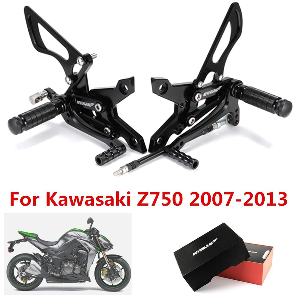 Motorcycle Adjustable Rearsets Foot Pegs Rear Set For Kawasaki NINJA ZX6R Z750