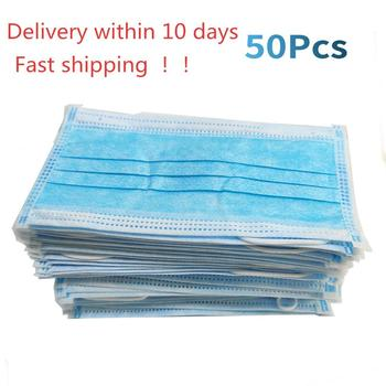 Profession Mask 50Pcs/Pack 3-Ply  Nonwoven Disposable Elastic Mouth Soft Breathable Face Mask