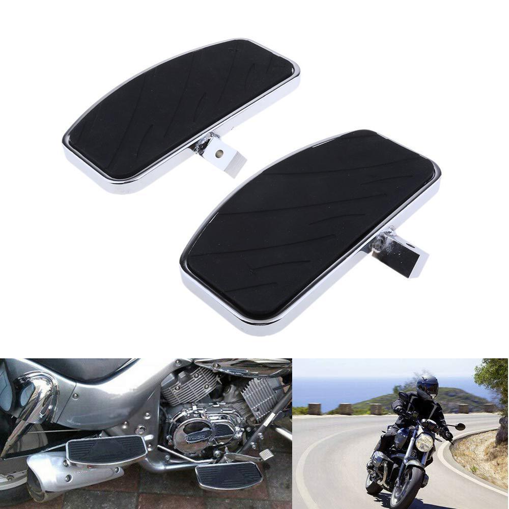 1Pair Black Motorcycle FootRests Motorbike Front Rider Driver Foot Pegs For Honda MAGNA VF250 VF750 /Yamaha V-STAR XVS 400/650