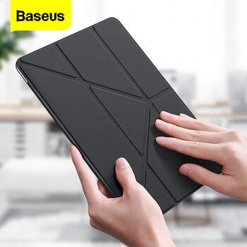 Baseus Foldable Case For iPad 10.2 Inch 2019 Coque Smart Auto Sleep Wake Up PU Leather Back Bag Cover For iPad 7 2019 Funda Capa цена 2017