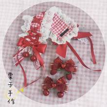 Origional Homemade Lolita Element Hair Clip Soft Sister Berry Strawberry Lolita Hair Band(China)
