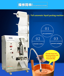 Fully Automatic Soy Sauce Vinegar Packing Machine Water Liquid Seasoning Packet Oil Soup Auto Filling And Sealing