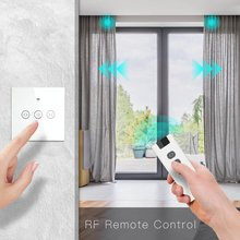 Curtain-Switch Blinds Remote-Control Smart-Touch Roller-Shutter Wifi-Rf /White