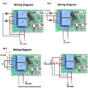 Image 3 - 433MHz אלחוטי שלט רחוק AC 220V 10A 2CH rf ממסר מקלט ומשדר מרחוק אור/הנורה/מנוע מתג