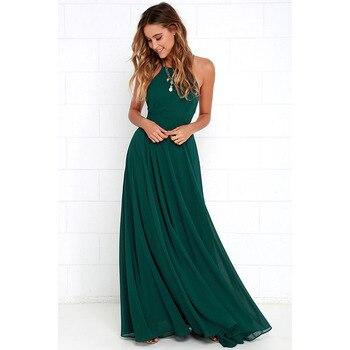 Women Plus Size Party Strap Fashion Bahemian Beach Chiffon Backless Dress Sexy Sleeveless Off The Shouder Maxi Dresses New 2020 5