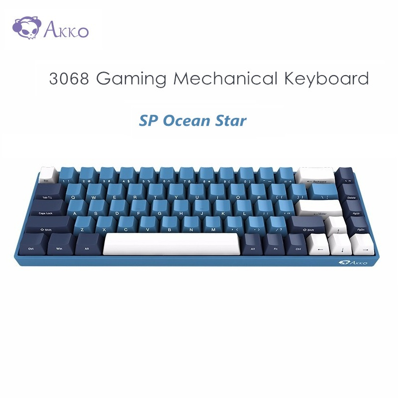 AKKO 3068 SP Ocean Star Gaming Mechanical Keyboard 68 Keys Cherry MX Switch 85% PBT Type C Wired Keyboard For Computer Gamer