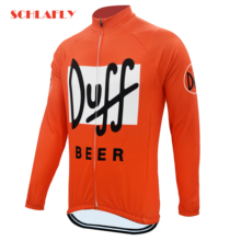 Bicycle Clothing Cycling-Jersery Schlafly White Duff Bike Fleece Winter Autumn Orange