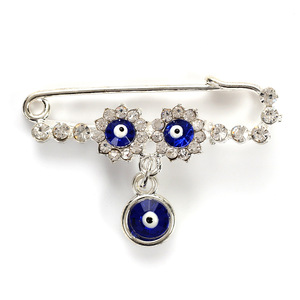 Image 4 - Islam Moeder Baby Turkse Evil Eye Crystal Charms Broche Pin Vrouwen Mannen Moslim Sieraden Gold Crystal Gesp Clips