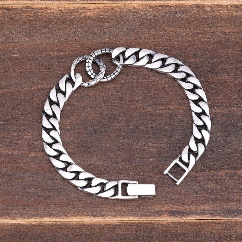925 стерлингового серебра браслет пара простой дизайн ретро мода индивидуальный стиль ювелирных изделий, чтобы отправить подарки для любителей 2019 Лидер продаж - 2