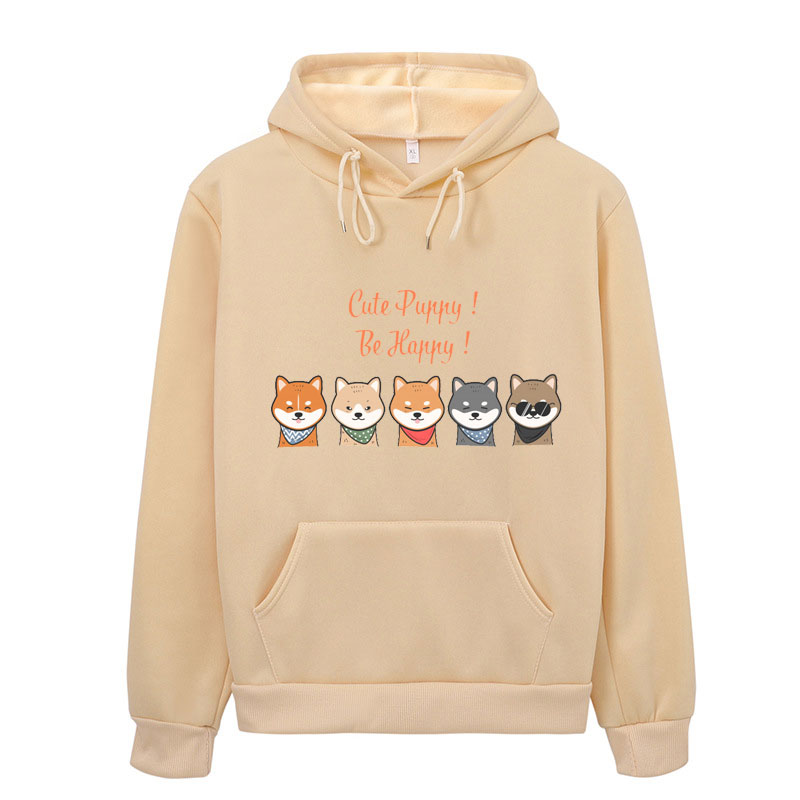 Kawaii Shiba Inu Hoodie Harajuku Funny Hoodies Women Ullzang Cute Korean Style Autumn Winter Sweatshirt 90s Warm Hoody Female