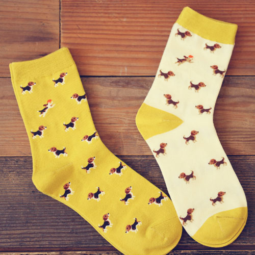 Freeshipping Adult Cute Animal Socks Hunting Beagles Beagle Dog Hound Love Hush Pup Puppy Puppies Pet Sukat Hotest Family Friend