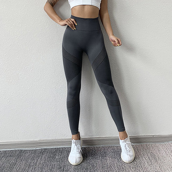 NORMOV Seamless Women Leggings Casual High Waist Push Up Ankle Length Leggings Workout Jeggings Patchwork Fitness Leggings Gril 4