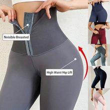 Pantalones de Yoga de cintura alta para mujer, mallas deportivas de compresión de realce para gimnasio y correr, 2021