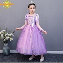 AngelGirl noel cadılar bayramı prenses elbise kostüm Xmas kızlar çocuklar puf kollu kostümleri çocuk parti doğum günü fantezi elbise
