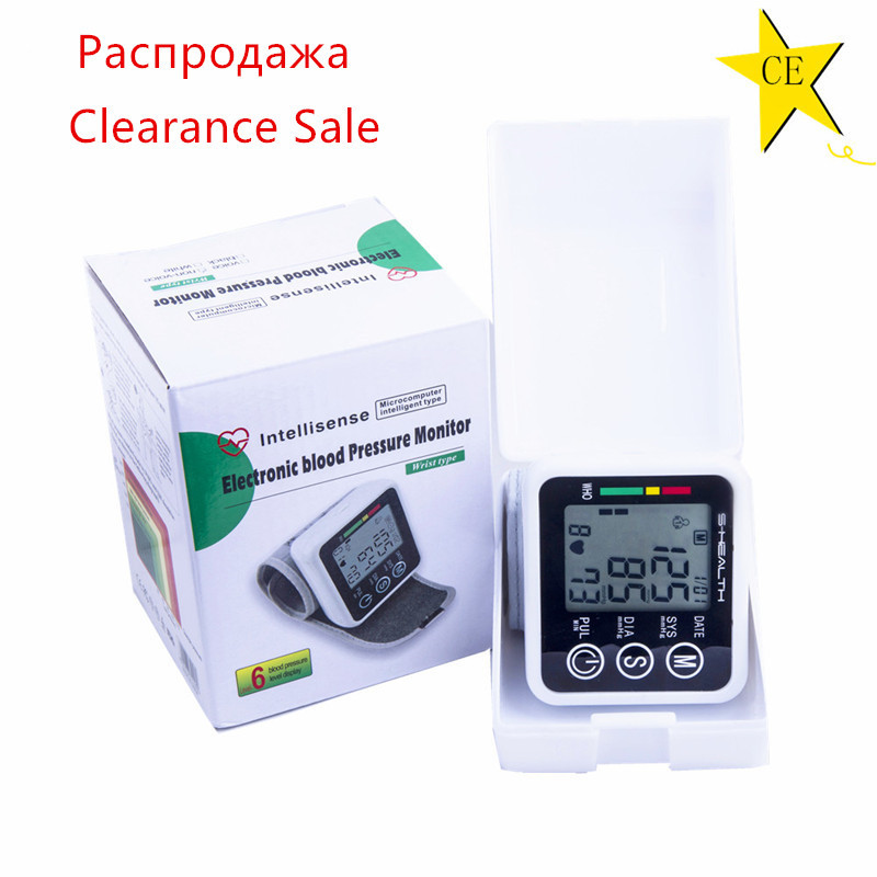 Clearance Sale Ship From RU Automatic Wrist Digital Blood Pressure Monitor Tonometer Meter For Measuring And Pulse Rate