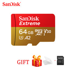 SanDisk Extreme envío gratis tarjeta Micro SD U3 A2 tarjeta de memoria 32GB 64GB 128GB 256GB TF tarjeta para cámara Drone cartao de memoria