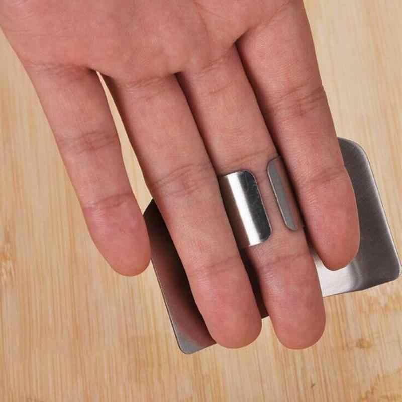 1 Pcs Stainless Steel Pelindung Jari Tangan Cutting Penjaga Kecil Aman Anti Menyakiti Jari Perlindungan Alat Dapur Gadget Dropship