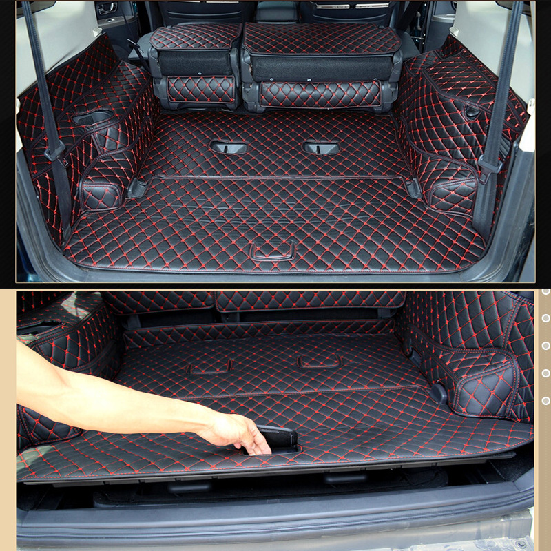 Коврики для багажника автомобиля на заказ для Mitsubishi Pajero 7 мест 2017 водонепроницаемые коврики для багажника Pajero 2016-2007 бежевый 4 цвета