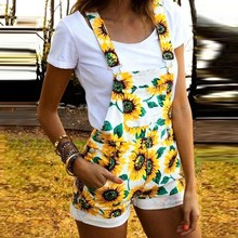 Hot Sale Women Girl Summer Sleeveless Sunflower Short Pajama