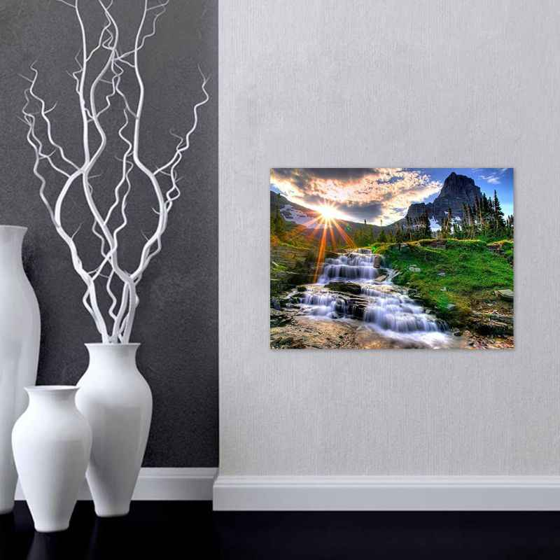 Водопад пейзаж 5D DIY наборы для алмазной живописи для взрослых полный сверлильный Кристалл Rhi Q39B