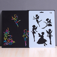 Scratch Art Doodle Drawing Board Notebook DIY Rainbow Color Drawing Toys For Children
