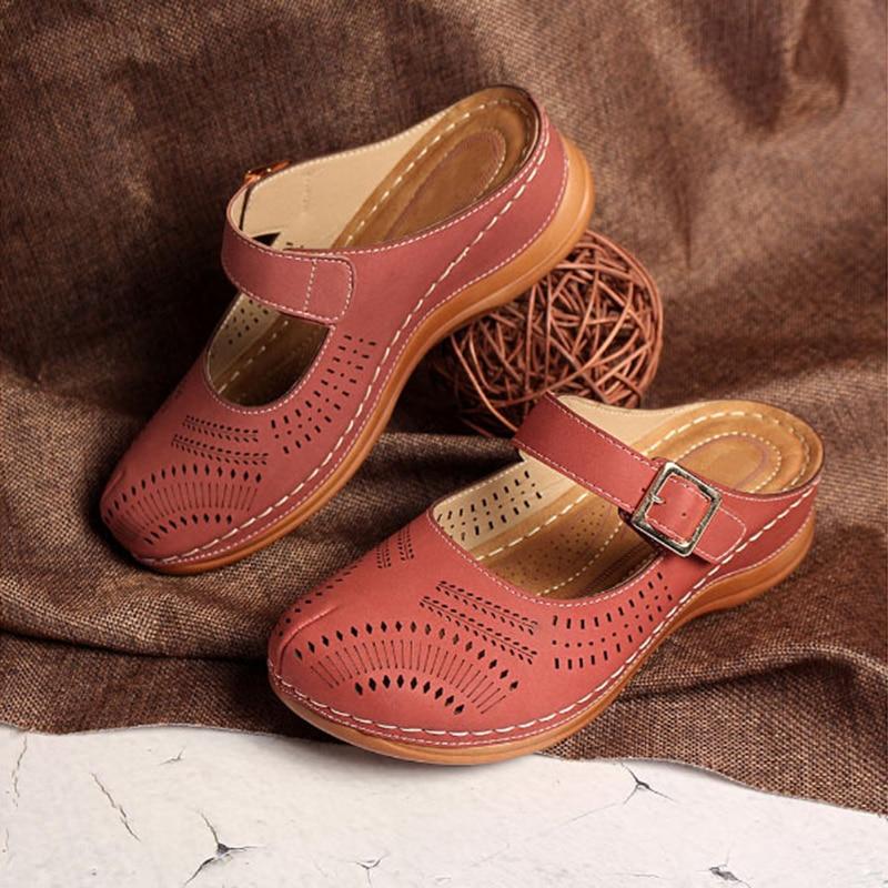 Summer Sandals Women Shoes Plus Size 46 Women Summer Footwear Hollow Round Toe  Flip Flops Beach Shoes Platform Ladies Sandals